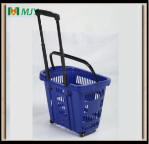 40 Liters Supermarket Plastic Roll Shopping Hand Basket Mjy-Tr02 pictures & photos