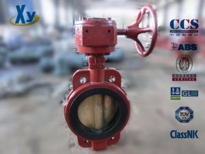 Marine Center Worm Manual Butterfly Valve (Hand Wheel) pictures & photos