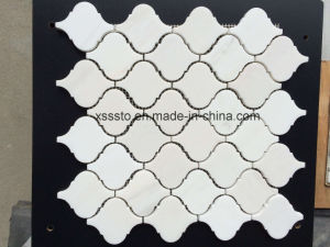 Polished Arabesque Lantern Carrara White Marble Mosaic Tile for Interior pictures & photos