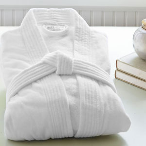 Classic Shawl Collar Cotton White Bath Robes Terry/Velour Hotel Bathrobe pictures & photos