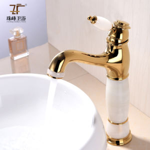 New Design Jade Brass Basin Faucet (Zf-707) pictures & photos
