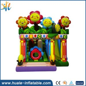 Best Price Sun Flower Inflatable Jumping Castle with Climbing Wall pictures & photos