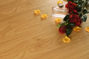 E0 Natural Hardwood Laminate Embossed Flooring for Living Room pictures & photos