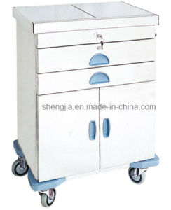 Sjt089 Luxurious Stainless Steel First-Aid Cart
