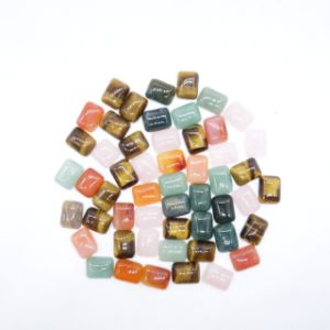 2 Size Natural Gem Stone Mixed Square Cab Cabochon Beads pictures & photos