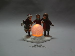 Christmas Children Statue Home Decor Candle Holder pictures & photos