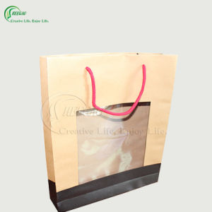 Brown Kraft Paper Packaging Bag with Window (KG-PB010)