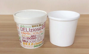 Custom Cup Ice Cream with Lids Wholesale Ice Cream Paper Cups and Lids pictures & photos