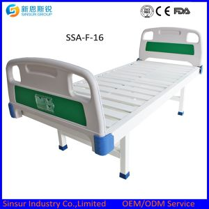 China Supply Cost ABS Head/Footboard Stainless Steel Flat Medical Bed pictures & photos
