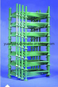 Stackable Powder Coating Euro Post Pallets Rack with Wooden Pallets pictures & photos
