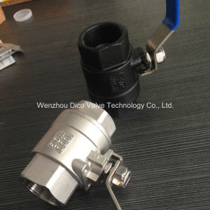"Stainless Steel Ball Valve-NPT Thread 1 1/4"" Carbon Steel 2PC Ball Valve pictures & photos"