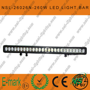 47inch 260W CREE LED Light Bar, Flood Euro 4WD Boat Ute Driving Work Lights, New 10W Range LED Light Bar pictures & photos