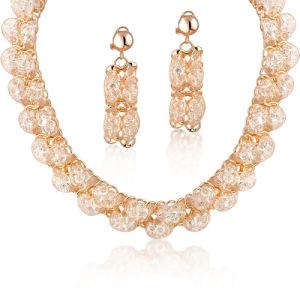 Luxury Dubai Gold Plating Rhinestone Costume Fashion Jewelry Set pictures & photos
