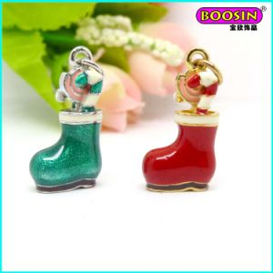 Guangzhou Factory Fancy Enamel Christmas Shoe Charm pictures & photos