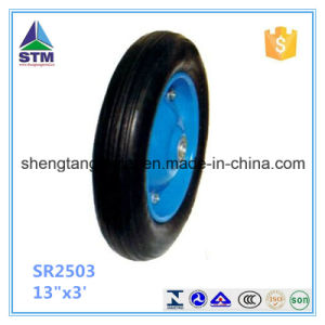 "Qingdao Manufacturer 13""X3.00-8 Solid Rubber Wheel pictures & photos"