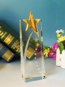 Custom Crystal Trophy High-Grade Creative Star Trophy pictures & photos