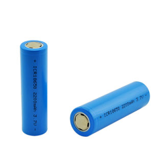 3.7V 2200mAh Capacity 18650 Battery 3.7V Li-Po Rechargeable 18650 Battery for Car/Toys/Flashlight pictures & photos