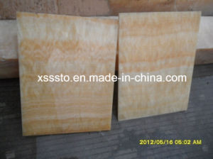 Yellow Marble Honey Onyx Tile for Flooring and Wall pictures & photos