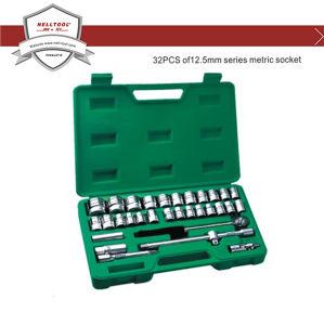 Cr-V Metric Socket Tool Set 32-PCS