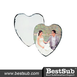 Sublimation Promotional 20*25cm Personalized Heart Photo Slate (SBBH44) pictures & photos