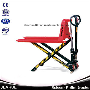 Jeakue 1t-1.5t Modea Elevated Hydraulic Electric Shear Pallet Truck pictures & photos