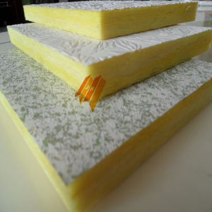 China fiberglass sound insulation glass wool ceiling board for Glass fiber board insulation