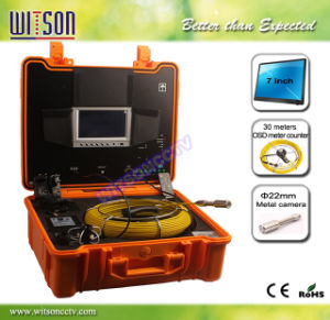 Witson Pipe Drain Sewer Camera with 30m Fiberglass Cable 7 Inch LCD Monitor DVR, Stainless Camera pictures & photos