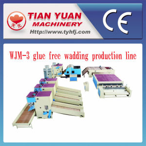 Nonwoven Stiff Wadding and Glue Free Wadding Production Line pictures & photos