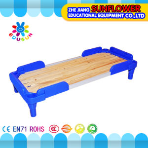 Kids Daycare Blue Plastic Wooden Beds for Preschool