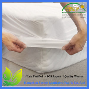 Breathable Soft Cotton Terry Surface Dust Mite Proof Mattress Protector pictures & photos