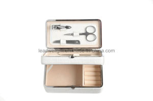 6 Piece Manicure Setand Jewellery Box Combination White pictures & photos