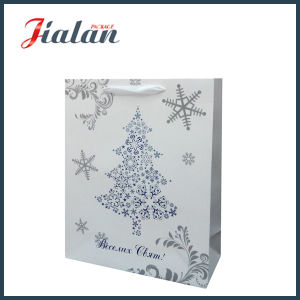 Hot Stamping Christmas Glossy Laminated Art Paper Gift Paper Bag pictures & photos