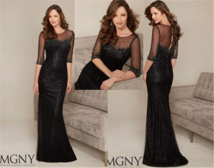 Fashion Slim Sexy Long Section of Beaded Evening Dress, Tailored pictures & photos