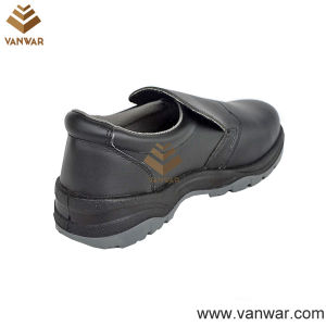 Black Cow Leather Working Safety Shoes with Dual PU Injection (WSS007) pictures & photos