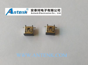 Mini USB 5p Female Vertical Connector, with Cap pictures & photos