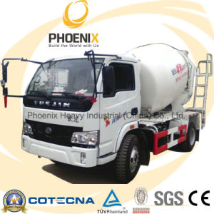 Lowest Price Yuejin 4cbm 4X2 Concrete Mixer Truck pictures & photos
