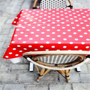 Wholesale Disposable Red Polka DOT Color Party Tablecloth for Picnic