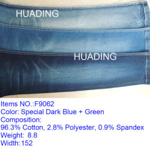 Indigo Cotton Yarn Dyed Denim Fabric Wholesale for Jeans (F9062) pictures & photos