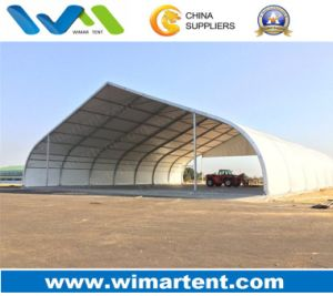 Snow Resistance Curved Tent for Tennis Court and Airplane Hangar pictures & photos