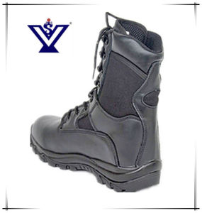 Black Military Combat Boots for Army (SYSG-002) pictures & photos