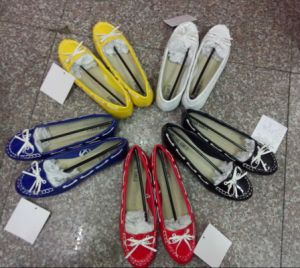 Sale Ladies Flat Shoes Sandals Stocked Low Price Shoes (0919-4) pictures & photos