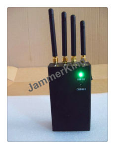 Wireless Portable 4 Antenna GSM/CDMA, 3G Cell Phone, WiFi, Gpssignal Jammer/Blocker pictures & photos