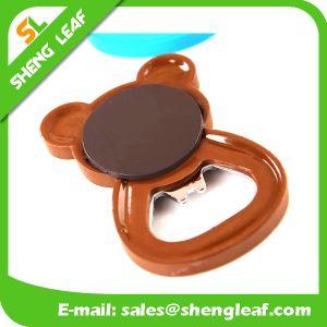 Custom Soft PVC Rubber Fridge Magnet Bottle Opener (SLF-BO006) pictures & photos