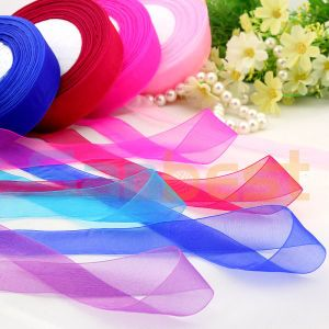 High Quality Beautiful Wedding Nylon Organza Ribbon pictures & photos