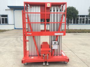 6-12m Double Masts Aluminum Lift with CE Certificate pictures & photos