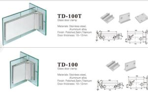 Stainless Steel Glass Fittings Glass Door Accessories (TD-100T) pictures & photos