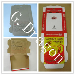 Locking Corners Pizza Box for Stability and Durability (GD33265) pictures & photos