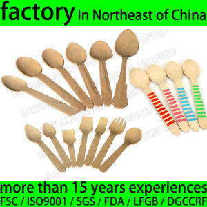 Wholesale Wooden Disposable Ice Cream Spoon, Birch Wood Tasting Spoon pictures & photos
