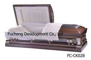 Newest and Hotest American Style Furneral Metal Casket, Coffin - White Finish & White Crepe Interiors SGS (FC-CK026) pictures & photos