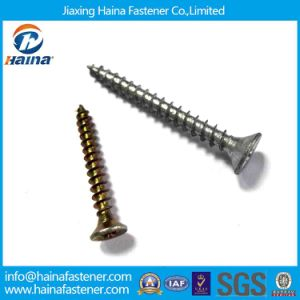 C1022 Carbon Steel Pozi Flat Head Csk Chipboard Screws (DIN7505) pictures & photos